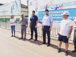 Сегодня прошла 18 спартакиада среди медицинских работников коллектива ГБУ РД «Дербентской ЦГБ»при поддержке отдела по делам молодёжи и спорта ,