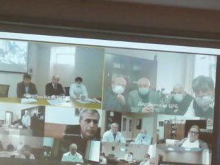 Сегодня в Дербенте, на базе ЦГБ города, прошло заседание Медсовета ЮТО (южного территориального округа) Совещание прошло в режиме ВКС (видеоконференцсвязь)
